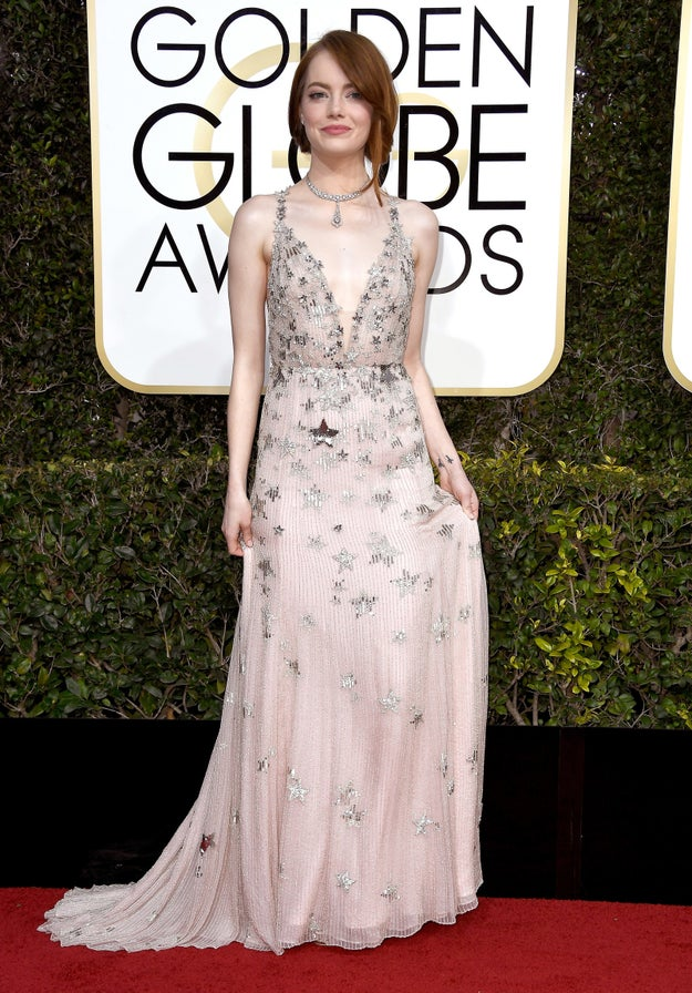 Emma Stone had the MOST perfect response for Ryan Seacrest when asked to talk about her dress on the Golden Globes red carpet.