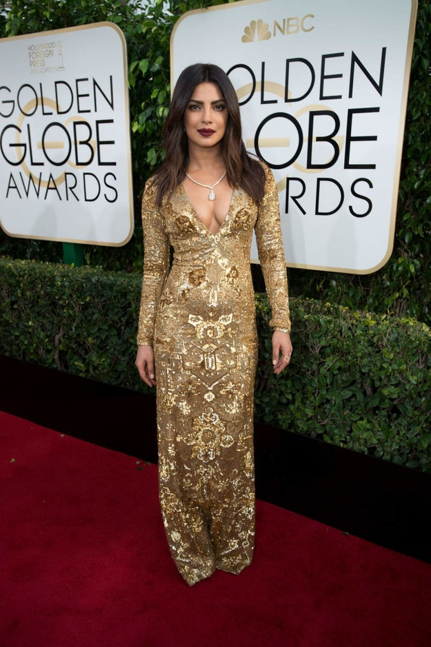Priyanka Chopra attended the Golden Globe Awards 2017 looking like absolute perfection.