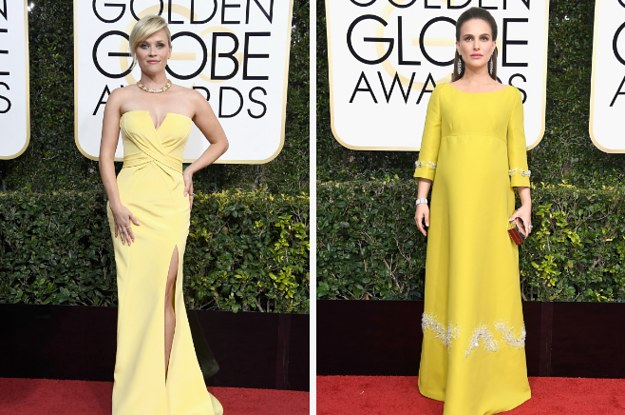 ok so who wore it better golden globes edition
