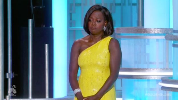 And Viola Davis, who presented Streep with the award.