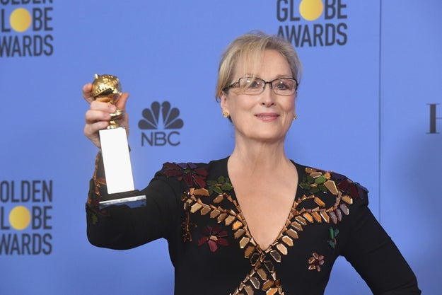 On Sunday night, Meryl Streep was awarded the Cecil B. DeMille Award at the Golden Globes.