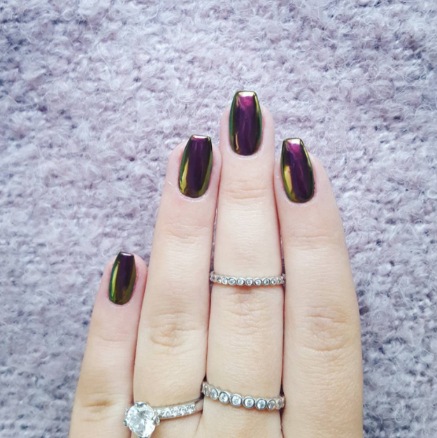 These metallic nails were a favorite in years past and are definitely making their way back into style in 2017.