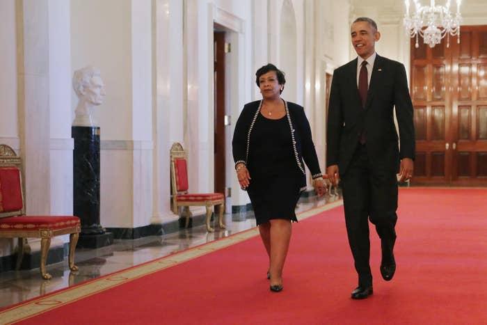 President Barack Obama and US Attorney General Loretta Lynch