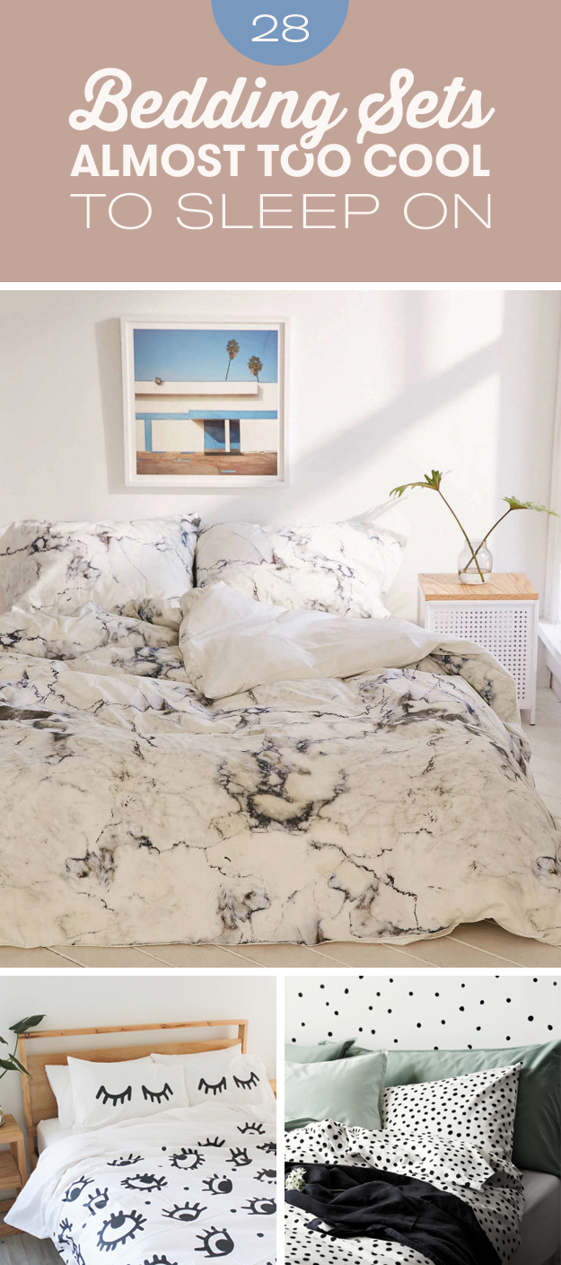 28 Bedding Sets That Are Almost Too Cool To Sleep On