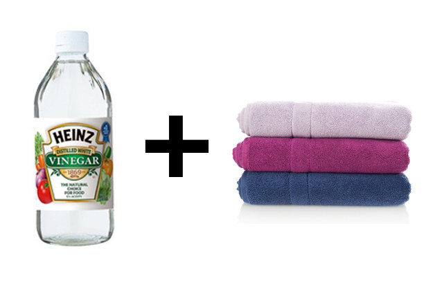 To revive *scratchy* towels, wash them with vinegar.