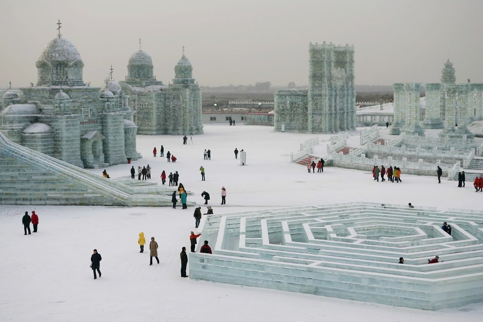 The Harbin Ice and Snow Festival is literally a winter wonderland, or where I imagine that chick from Frozen would live happily.