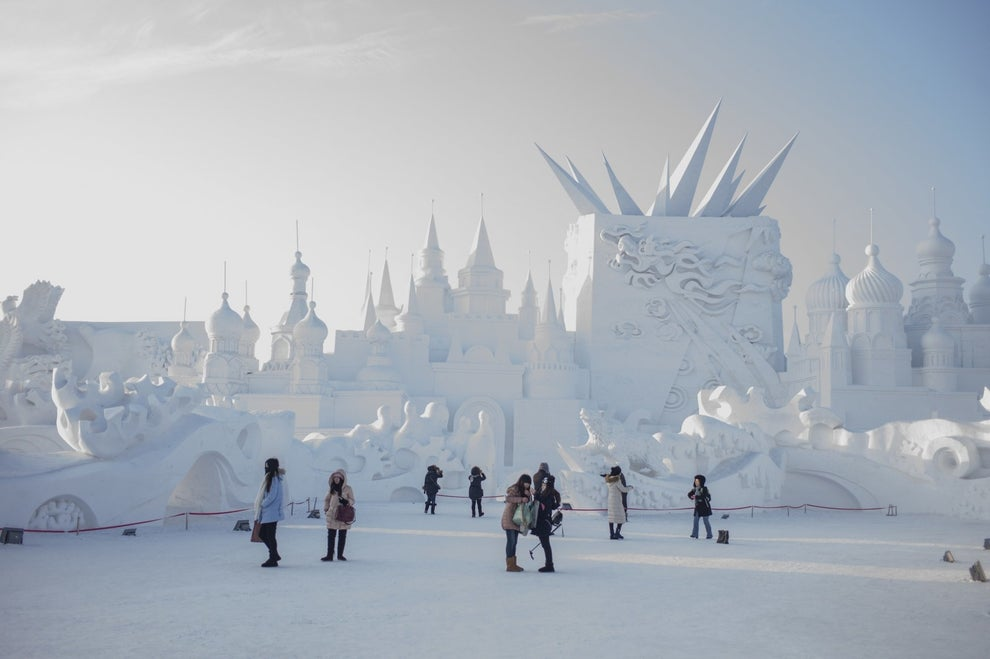 The festival started in 1985, and is held annually in the city of Harbin, located in one of China's coldest regions.
