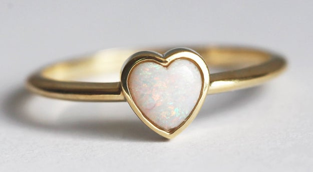 A dainty opal ring that'll win over your real heart.
