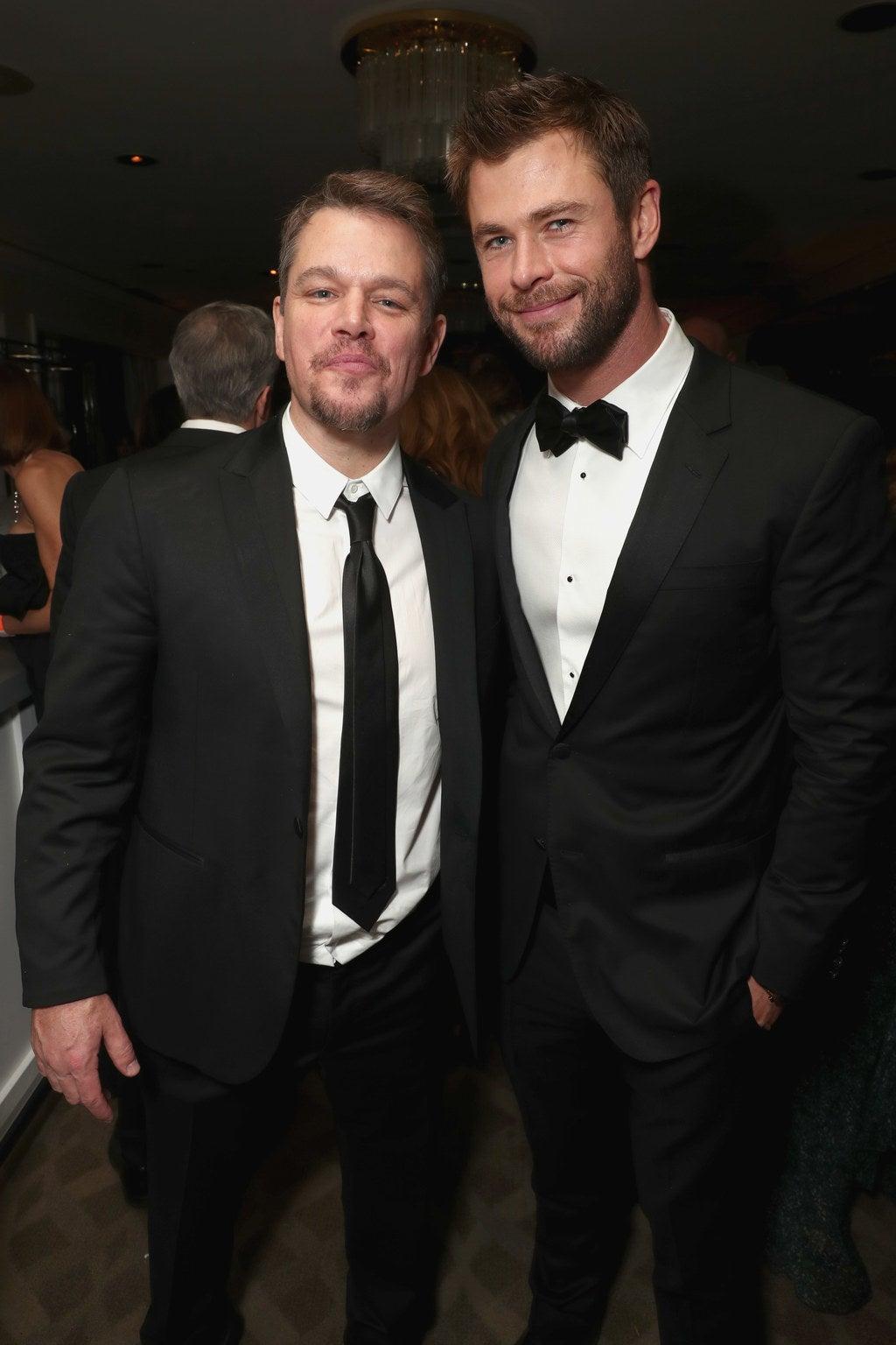Matt Damon and Chris Hemsworth