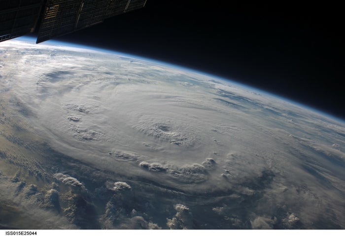 Category 5 Hurricane Felix over the Caribbean Sea in 2007.