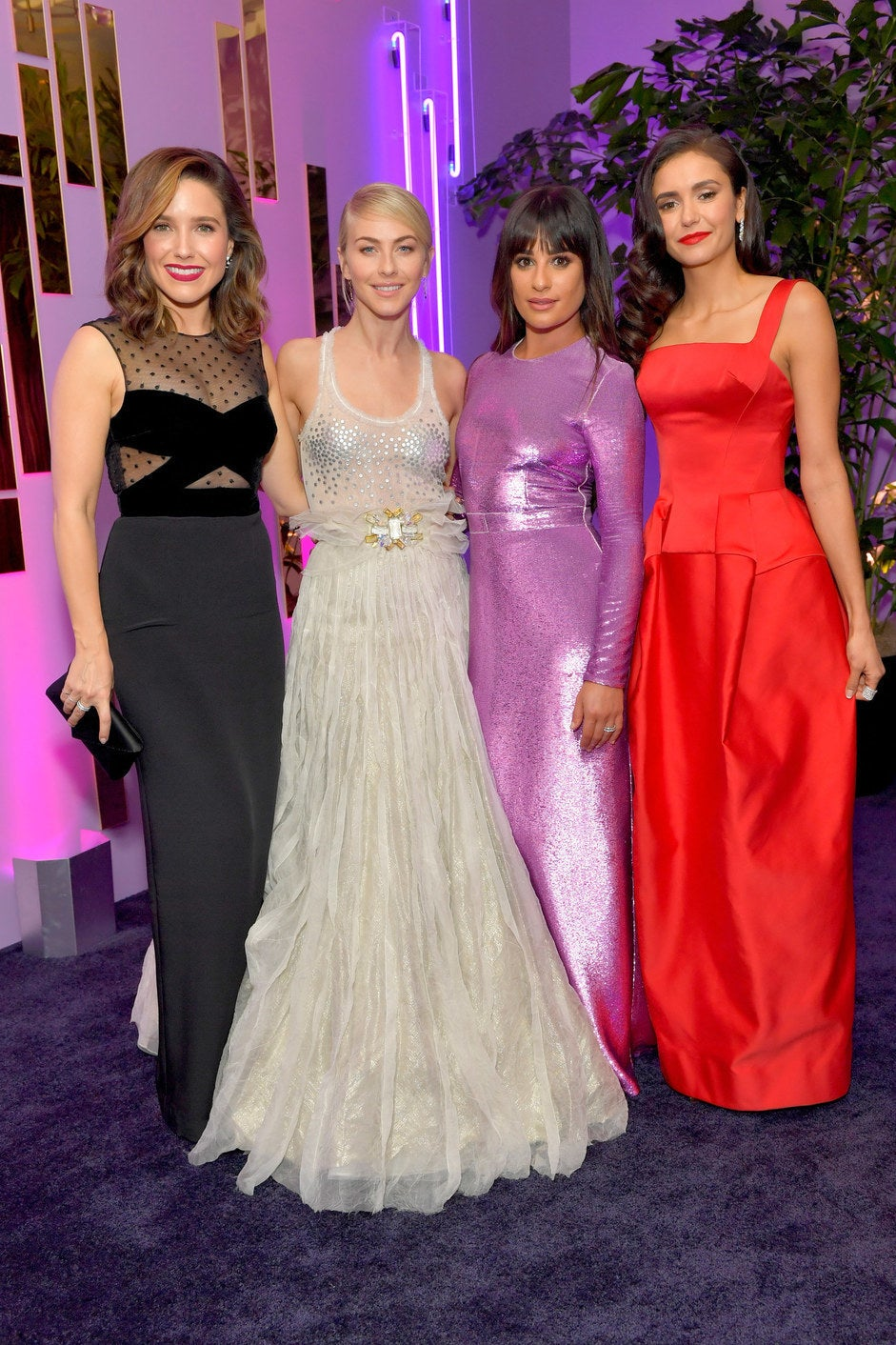 Sophia Bush, Julianne Hough, Lea Michele, and Nina Dobrev