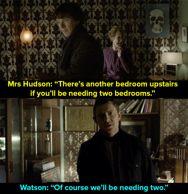 When Watson moved in with Sherlock.