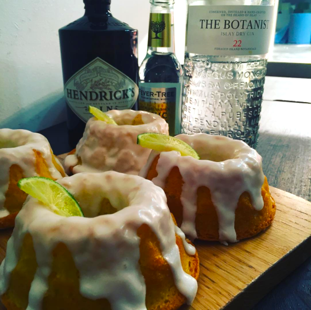 Gin and tonic cakes from Riverhill Coffee Bar in Glasgow.