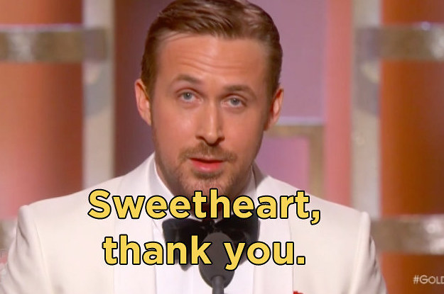 Ryan Goslings Golden Globe Acceptance Speech Will Destroy You