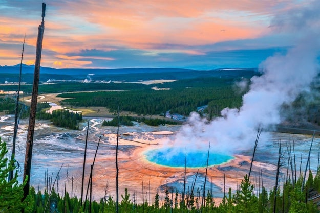 Either way, Yellowstone is basically just a giant freakin' volcano, and if it ever erupts, we're toast.