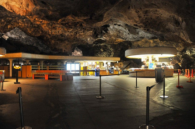 Speaking of caves, you can buy and eat food inside of one at Carlsbad Caverns National Park.
