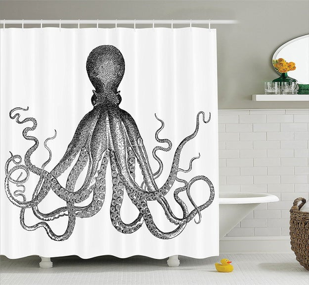 Hang a fabric shower curtain and wash it on the hottest cycle to eliminate any biofilm that could be growing on it.