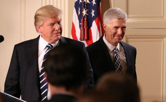 U.S. President Donald Trump announces his nomination of Neil Gorsuch to be an associate justice of the U.S. Supreme Court.