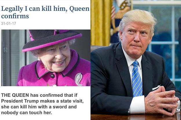 Afbeeldingsresultaat voor Trump voor queen Elizabeth