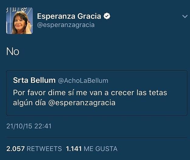 Y Esperanza Gracia.