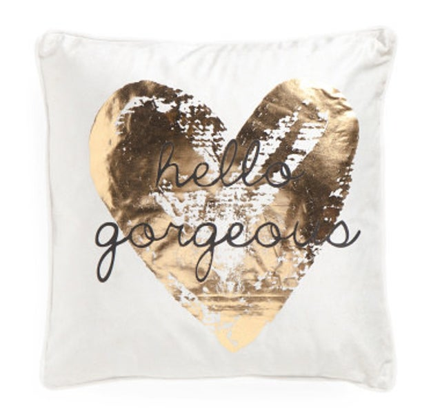 This pillow that'll remind you that, no matter how this day is treating you, you're absolutely stunning.
