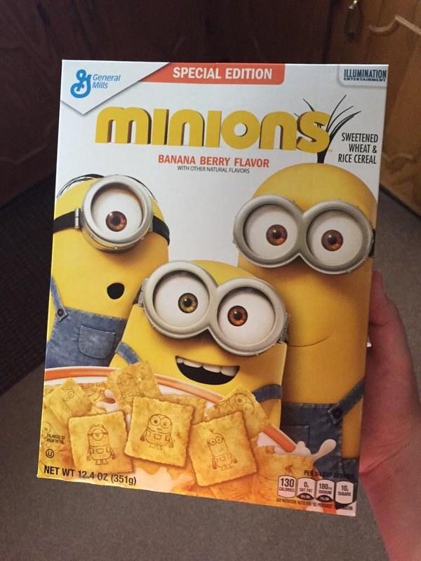 Este cereal matinal de Minions: