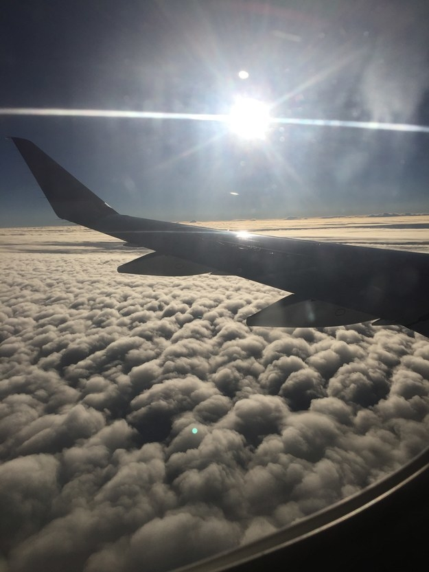 """Big puffy clouds over Northern California."""