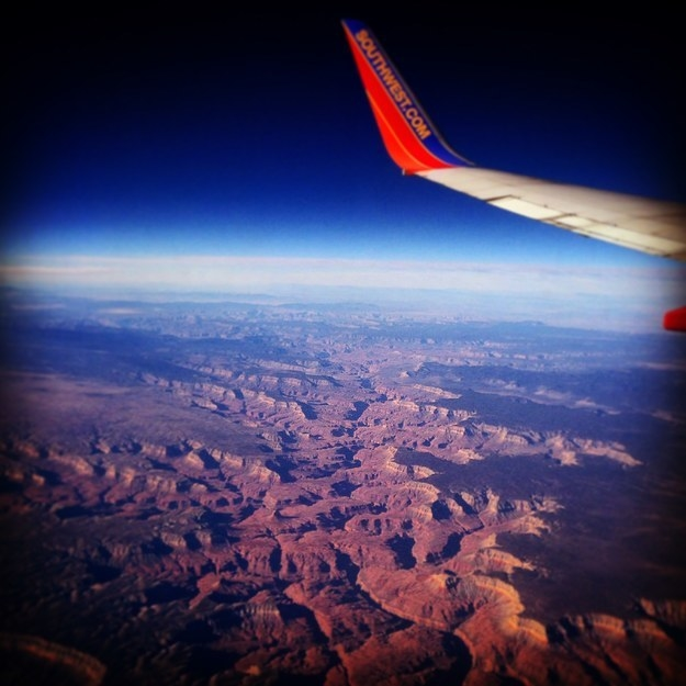 """Somewhere over Arizona/Utah."""