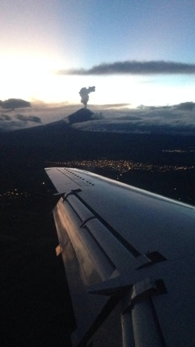 """Popocatépetl Volcano. Puebla Airport in central Mexico."""