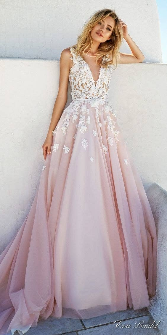 12 Colorful Wedding Dresses That Will Convince You To Say Bye To White