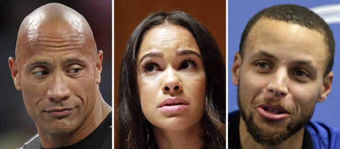 """Dwayne """"The Rock"""" Johnson, Misty Copeland, and Stephen Curry."""