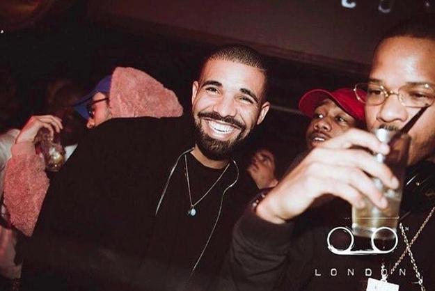 Drake was happy AF.