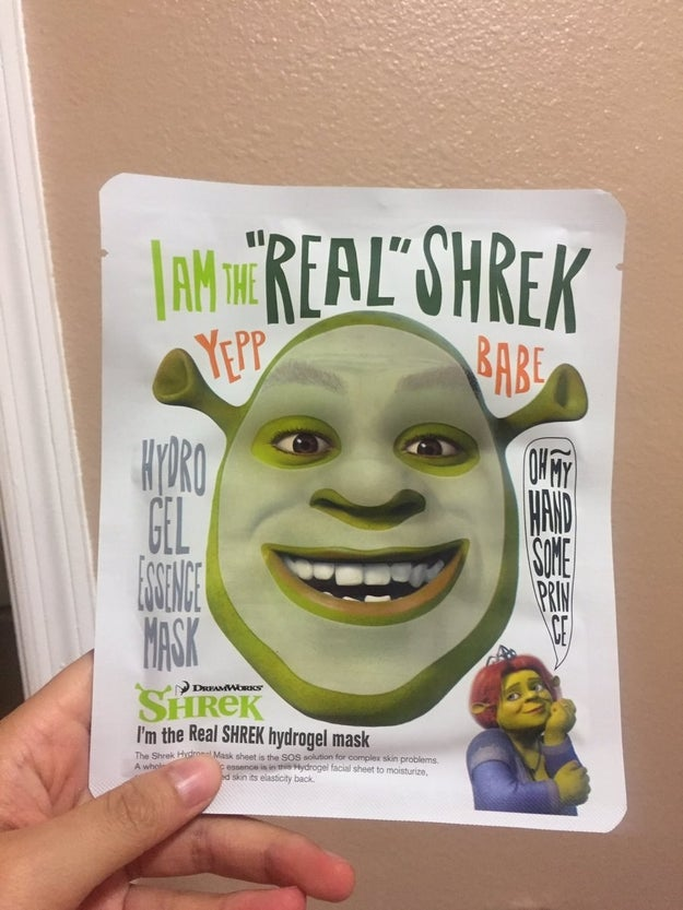 Esta máscara facial do Shrek:
