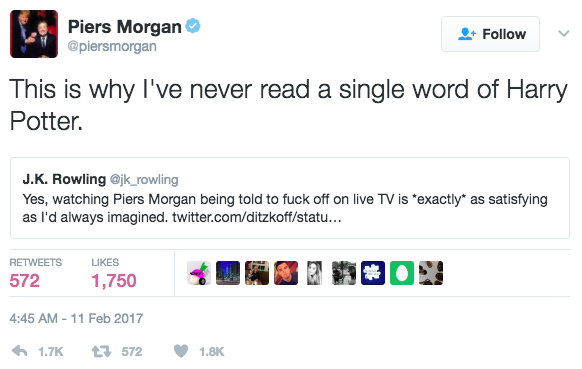Morgan responded:
