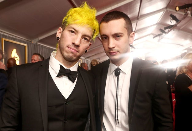 On Sunday, Twenty One Pilots won their first Grammy, for Best Pop Duo or Group Performance.