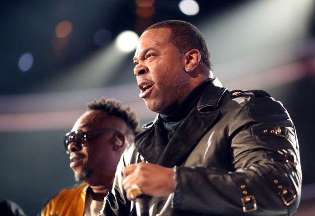 Busta Rhymes, a frequent A Tribe Called Quest collaborator, was also in the mix on stage, and he called out President Donald Trump.