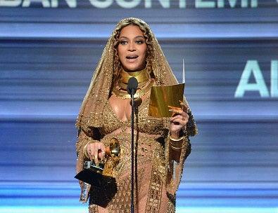 Beyoncé gave a bold, unifying acceptance speech for Best Urban Contemporary Album...