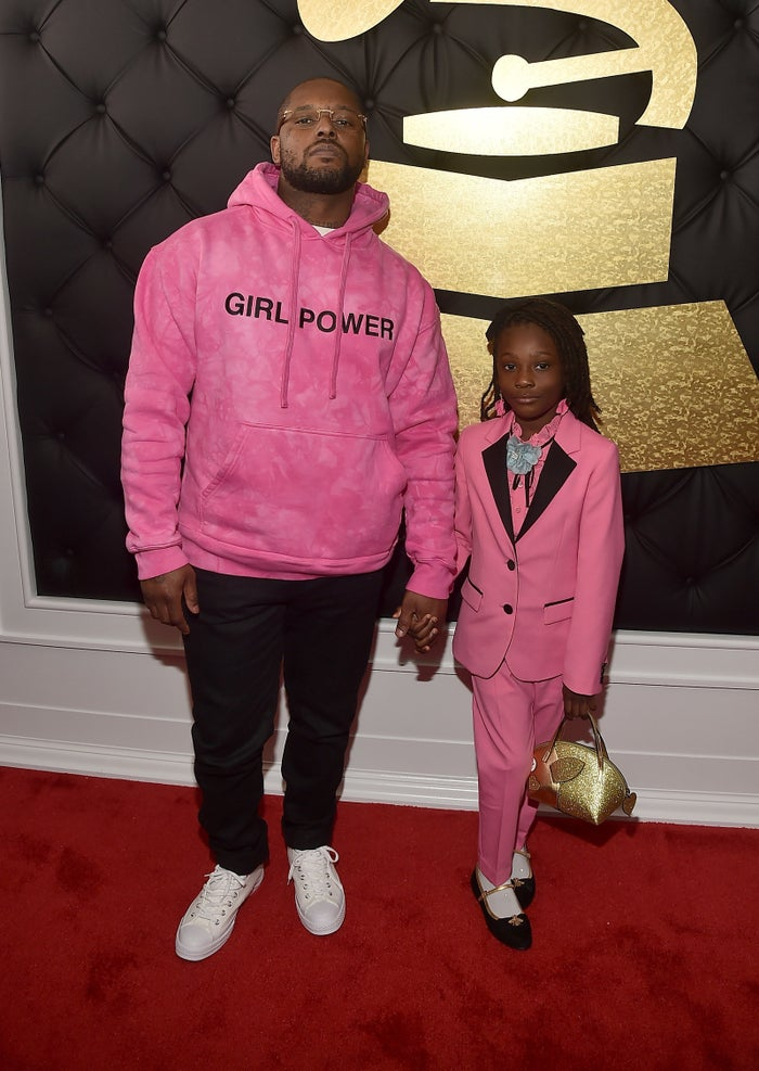 Before the show, the rapper adorably snapped his daughter serving lewks in her tiny, tailored pink suit.Some even thought the suit was a nod to the late Prince.