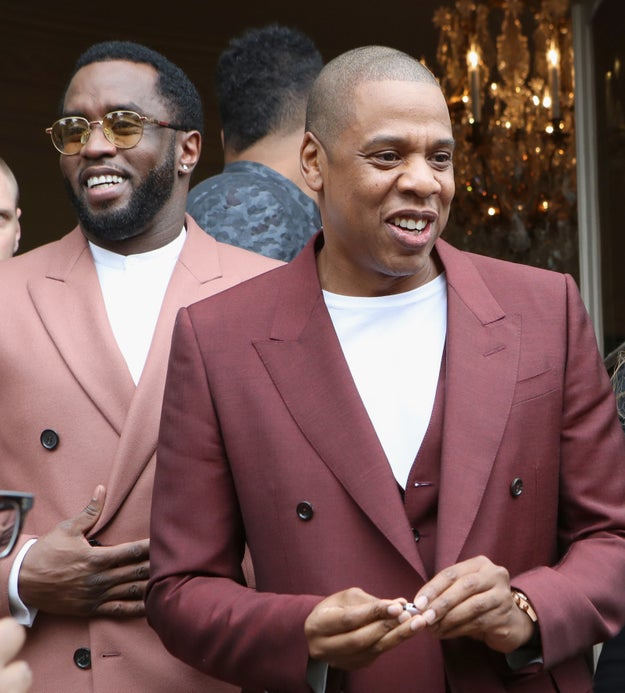 Diddy and Jay Z came in like two walking glasses of rosé.