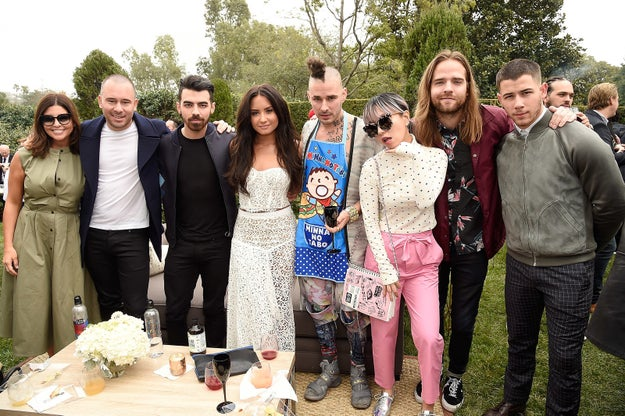 The entire guest list was like a dream. Two of the three Jonas brothers were in attendance and an etherial looking Demi Lovato.