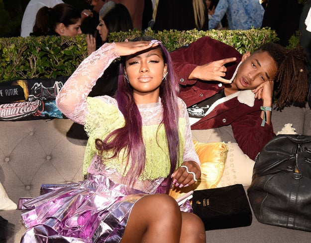 Jaden Smith and Justine Skye held it down for the young, black, and fancy Calabasas delegation.