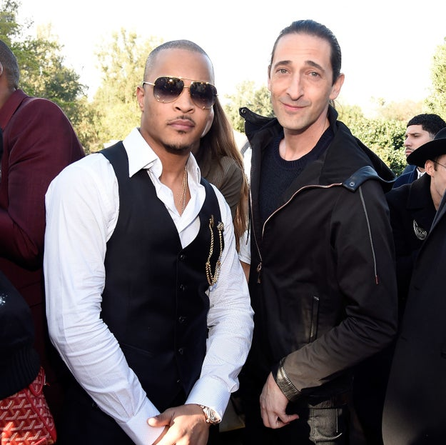 T.I. and Adrien Brody (who even knew they knew each other?!) brought the cool.