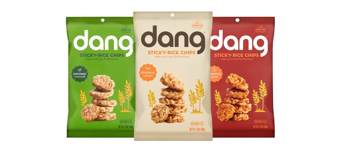 Dang Foods, better-for-you snack innovators and pioneers of the Coconut Chip category, has launched the first-to-market Sticky Rice Chip. Made with certified organic Thai sticky rice and watermelon juice as a binding ingredient for a satisfying crunchy chip, the rice chips will debut in three flavors: Original Recipe, Sriracha Spice and Coconut Crunch (made with Dang Coconut Chips).