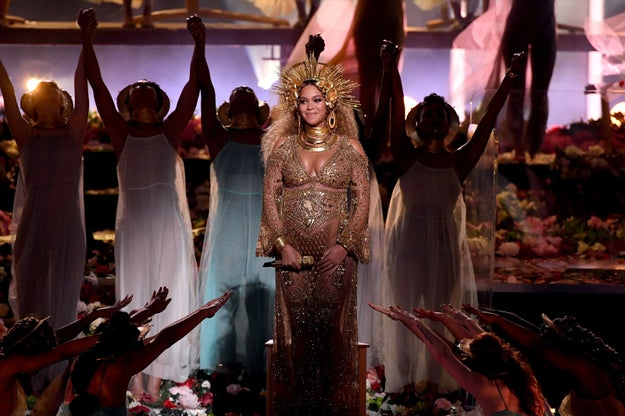 And Beyoncé's first performance with her unborn twins.