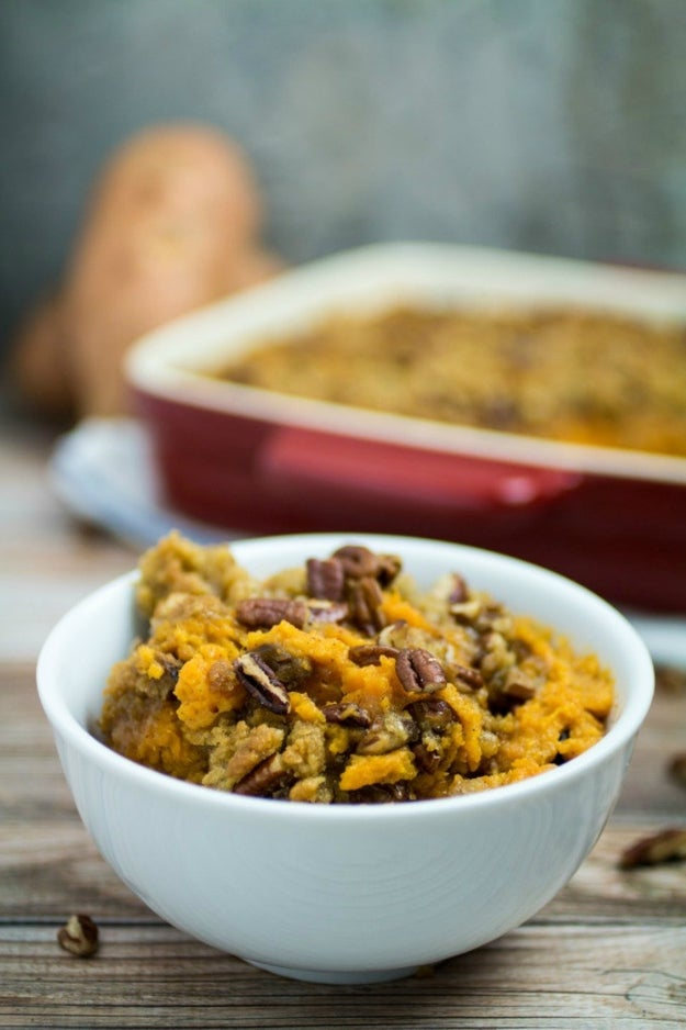 Easy Sweet Potato Casserole With Pecan Crumble Topping