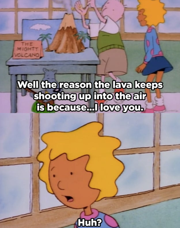 When Doug's love for Patty made lava gush.
