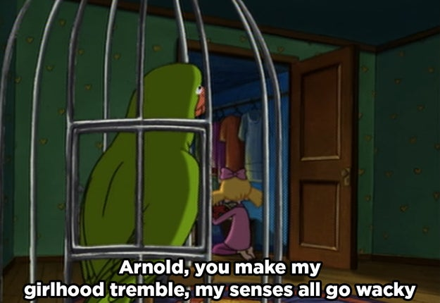 "When Helga talked about how Arnold makes her ""girlhood"" feel."