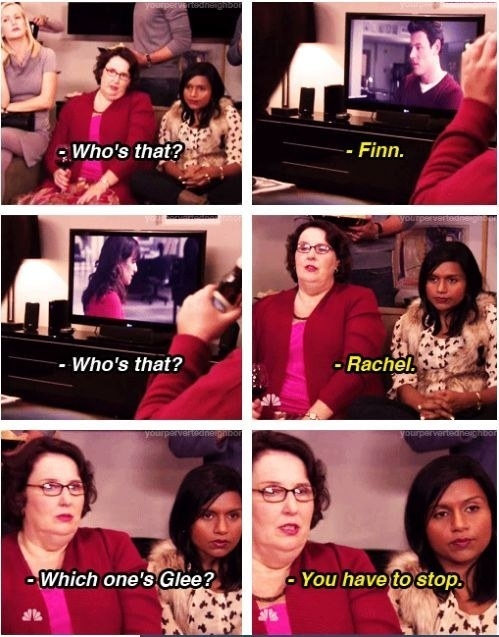 When Kelly had to watch Glee with Phyllis: