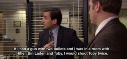 When Toby realized he should probably change jobs: