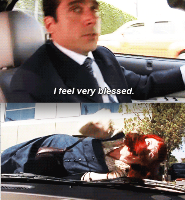 When Michael hit Meredith with his car: